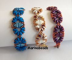TUTORIAL Duo Kheops bracelet by MarinaBeads06 on Etsy