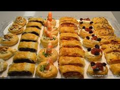 Canapes Variados con Hojaldres y Tartaletas - YouTube Quiches, Appetizer Recipes, Appetizers, Party Sandwiches, Decadent Cakes, Recipe For 4, Special Recipes, Antipasto, Keto Dinner