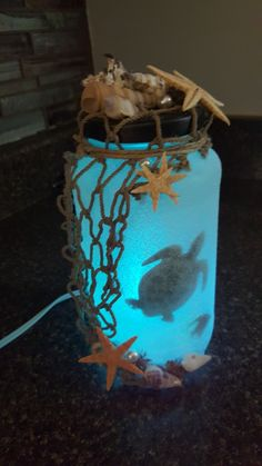 Deep Blue Sea Turtle in a Glass Craft for Children Mason Jars- . - Deep blue sea turtle in a glass Crafts for children Mason jars – Deep blue sea turtle in a - Crafts With Glass Jars, Wine Bottle Crafts, Mason Jar Crafts, Mason Jar Diy, Bottle Art, Glass Bottle, Kids Bottle, Seashell Crafts, Beach Crafts