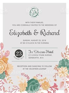 Templates for Wedding Invitation Lovely Elegant Wedding Invitation Free Vector Art 4 792 Free Toy Story Invitations, Monster Birthday Invitations, Invitation Card Design, Wedding Invitation Samples, Photo Wedding Invitations, Custom Invitations, Groomsmen Invitation, Vector Graphics, Vector Art