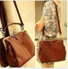 Shopinthebox Retro Vintage Lady Woman PU leather Shoulder Purse Handbag Totes Bag Satchel -  #WomensHandbag