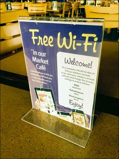 Nothing is more frustrating than WiFi that requires a password from Store Staff who never remember it anyway, and it does not easily engage in any event. Here Wegmans Cafe offers the Free WiFi and ...
