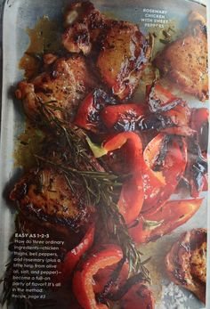 Rosemary Chicken with Red Sweet Peppers Part 1