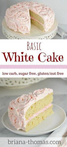 Glutenfree Birthday Cake Sugarfree Low Carb Keto This gluten
