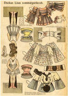 picasa web, picasa nettalbum, danish paper dolls, bobe green, papers, vintag paperdol
