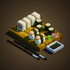 Image result for voxel food