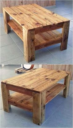 Inventive Ideas to Make Cool Projects with Recycled Pallets A royal blend of the lovely wood pallet table frame piece of design has been featured out that is an ultimate option to make it part of your house beauty. This beautiful table designing form of s Wood Pallet Tables, Wooden Pallet Projects, Wooden Pallet Furniture, Wooden Pallets, Furniture Plans, Rustic Furniture, Diy Furniture, 1001 Pallets, Western Furniture