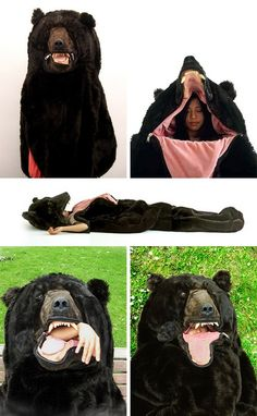 Bear Sleeping Bag - not sure if I should have this in my humor section or camping, but I want it! Best Funny Pictures, Funny Photos, Bear Sleeping Bags, Camping Must Haves, Camping Ideas, Camping Checklist, Camping Activities, Happy Campers, Humor