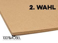 Papierbögen - 2. Wahl: 10 Blatt Kraftpapier 300g ca. A4 - ein Designerstück von 100-prozent-Mosel bei DaWanda