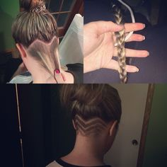 Undercut or nape cut I had done by my favourite Jorden Peters! In love Nape Undercut cut favourite Jorden Love Nape Peters Undercut Undercut Long Hair, Undercut Hairstyles, Pretty Hairstyles, Undercut Hair Designs, Hair Locks, Hair Tattoos, Hair Color And Cut, Shaved Hair, New Hair