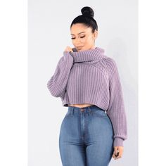 Halina Sweater Lavender ($25) ❤ liked on Polyvore featuring tops, sweaters, lavender sweater, purple top, purple sweater, lavender top and light purple sweater