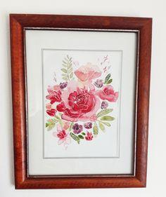 aquarell watercolor flowers Art Flowers, Watercolor Flowers, Flower Art, Decorative Plates, Frame, Watercolors, Watercolor, Flowers, Picture Frame