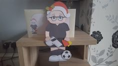 3D on the Shelf Card Kit- Old Man Christmas Football Referee - Photo by Hayley Griffiths