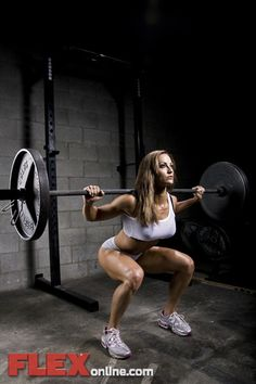 "Erin Stern - From one of my all time favorite photo shoots showing Erin training hard and heavy. Proving that without the drugs women just can't become ""too muscular"". Cardio eats muscle, and muscle eats fat and creates shape. Go figure."