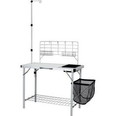camping kitchen table with sink - Durable Ozark Trail Portable Camp Kitchen and Sink Table -- You can find more details by visiting the image link. (This is an affiliate link) Camping Kitchen Table, Portable Camp Kitchen, Kitchen Tables, Camping Cooking Table, Cooking Grill, Cooking Bacon, Kitchen Dining, Steel Racks, Ozark Trail