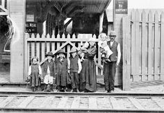 Galician immigrants from the Austro-Hungarian Empire at immigration sheds in Quebec province
