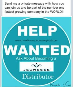 "JEUNESSE GLOBAL Global means growth With Jeunesse, ""a world of opportunity"" is quite literal. Our global platform allows you to network across countries and continents. And our online model capitalizes on your social networks so you can easily and quickly build and strengthen worldwide relationships, which in turn build bigger businesses. Jeunesse is available in 85 nations and counting. You can take advantage of them all. www.novellevous.jeunesseglobal.com"