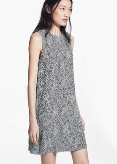 Wzorzysta sukienka - Sukienki dla Kobieta | MANGO Outlet Polska
