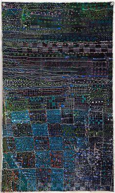 "Bribes de l'ete 1943-2 57.25""x34.75"" mixed media on canvas, 2010  Tags: Galerie Janine Rubeiz Mes Jeunes Annees 2010"