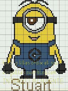 Despicable me minion cross stitch chart from sheena rogers free punto de cruz 14 minion craftminion spixel crochetminion crochetcrochet chartknit ccuart Choice Image