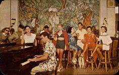 Bar restaurante del Hotel Casablanca  Foto: Década de 1950