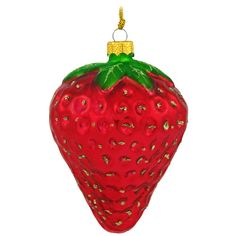 Large Strawberry Glass Ornament $8.99