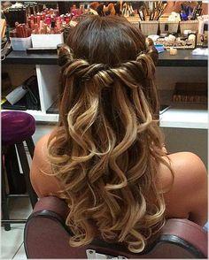 # for # big - Curly Hairstyles - Hochzeitsfrisuren-braided wedding updo-Wedding Hairstyles Prom Hairstyles For Long Hair, Down Hairstyles, Braided Hairstyles, Wedding Hairstyles, Gorgeous Hairstyles, Hair For Prom, Long Prom Hair, Glamorous Hairstyles, Cute Prom Hairstyles