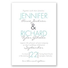 Sophisticated Stripes - Coral Reef -Invitation
