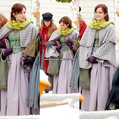 Emma Watson filming with Saoirse Ronan, Florence Pugh and Eliza Scanlen in Harvard [November Harry Potter Film, Hermione, Hollywood Celebrities, In Hollywood, Prairie Look, Emma Watson Fan, Film D, Florence Pugh, Literary Fiction