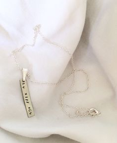 Hand-stamped Petite Roman Numeral Date Necklace by SamanthaButkus