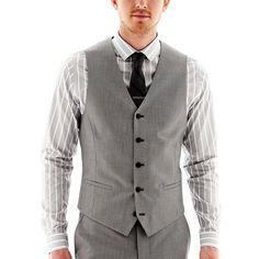 JF J. Ferrar® Slim-Fit Suit Vest