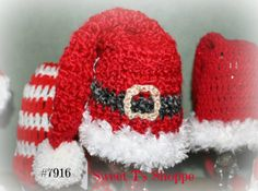 14 inch deep red  baby Santa hat Santa's belt in by SweetTsShoppe, $18.95