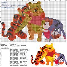 Schema punto croce Winnie the Pooh e amici
