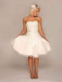 A-line Sleeveless Informal & Casual Wedding