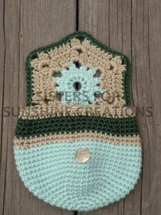 Light Blue Crochet Bag  Handmade Crochet by SistersforSunshine