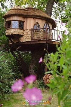 Tree houses to live in are probably your dream as young children. The adults somehow, rarely dream of living in the tree house. But to live in a tree house is Beautiful Tree Houses, Cool Tree Houses, Beautiful Homes, House Beautiful, Beautiful Beautiful, Style At Home, Recycled House, Blue Forest, In The Tree