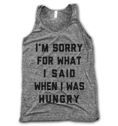 I LOVE this shirt- the perfect tank top/muscle shirt for a big bear who is always hungry.