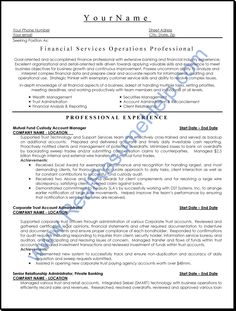 financial services operation professional resume 1346 httptopresumeinfo
