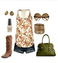 Summer Outfit Idea For The Country Look.