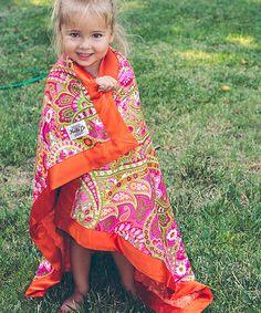 Love this Bohemian Pink Paisley Luxury Stroller Blanket Set by KeikiCo. on #zulily! #zulilyfinds