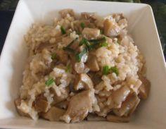 Arroz meloso con setas. Ver la receta http://www.mis-recetas.org/recetas/show/40479-arroz-meloso-con-setas