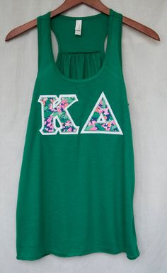 Kappa Delta Kelly Tank With Lilly Print On White by UniversityShop