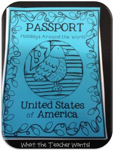 Holidays Around the World Passport {free download}