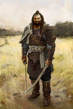 Age Of Conan - Concept Art - Hyrkanian Warrior Fantasy Warrior, Fantasy Art Men, Fantasy Kunst, Fantasy Rpg, Medieval Fantasy, Dark Fantasy, Fantasy Artwork, Character Concept, Character Art