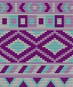 Pattern for my own mochila bag:) made with the program: Eas Tapestry Crochet Patterns, Bead Loom Patterns, Crochet Stitches Patterns, Beading Patterns, Cross Stitch Patterns, Crochet Cross, Crochet Chart, Wiggly Crochet, Mochila Crochet