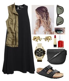 """""""//the hills have eyes\\"""" by mackenziebarnett0719 ❤ liked on Polyvore featuring T By Alexander Wang, Lucky Brand, Birkenstock, Ray-Ban, Kate Spade, Michael Kors, Topshop, Dolce&Gabbana and Essie"""