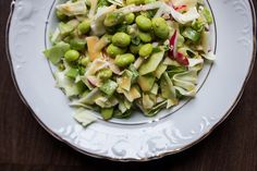 Cabbage slaw with miso dressing. Must try.