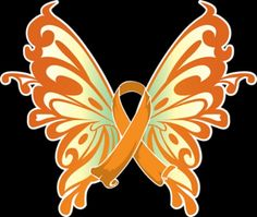 This is the color for the type of cancer the mother of my kids has her name is Ashley share this and pray she has acute lymphoblastic leukemia Leukemia Ribbon, Leukemia Awareness, Acute Myeloid Leukemia, Acute Lymphoblastic Leukemia, Butterfly Clip Art, Orange Butterfly, Butterfly Tattoos, Childhood Cancer Awareness, Childhood Cancer Quotes