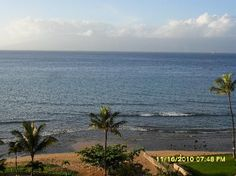 this is what our view was like outside our room.  kaanapali shores