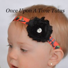 Halloween Witch Headband - Photo Prop - Newborn Baby Hairbow Little Girls Hair Bow Accessory - Purple Orange Green Black - Witches Brew by OnceUponATimeTuTus on Etsy